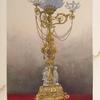 Gas chandelier in brass by Winfield of Birmingham.
