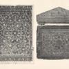 Bucheinband aus Leder; Blatt aus einem Koran.