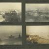 Frank E. Downs. Trip to Nome, Alaska, May to Sept. 1900: Front Street; Boat hotel in Snake River. Taken at Nome, midnight June 21, 1900; Ships before Nome. There is no harbor, all supplies coming ashore on lighters. 1 to 1½  miles out; Beach and sea.