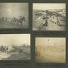 Frank E. Downs. Trip to Nome, Alaska, May to Sept. 1900: Transportation, pack horses; Beach scene, dog team. Another method of transportation; Expressman. Frank's camp, distant mountain; Man-power, dog team.