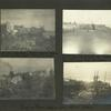 Front Street, after storm, where houses were carried across street by surf; Wrecks in front of Nome; Pumping plant, before and after storm; Frank's camp near windmill.
