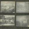 """Salt Lake City, Brigham Young's house center of picture, on corner of street. Mormon College; Salt Lake City, Brigham Young's house and Eagle Gate (see eagle 2/3 way up picture); """"Amelia House"""", residence of B's favorite wife; Tabernacle and Temple, Salt Lake City."""