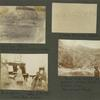 """Santiago, Mexico. Mexicans bathing and washing clothes in river; Cattle feeding, Oklahoma; Rush parlor, Lucy F. Rush at piano, Mrs. Rush, Stanley R.; Fred Schermayer at """"headwaters"""" where Dark Cañon stream rises. Schermayer's ranch."""