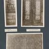 Holznische; Tür mit Perlmuttereinlagen; Kassettentür.