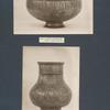 Versilberte Kupferschale; Bronzevase mit Zodiakus.