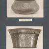 Bronzeschüssel mit Inscrift; Bronzeleuchter Mamelukenstil.