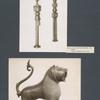 Moscheenschlüssel, tauschiert; Bronzelöwe.