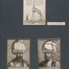 Giraffe, von Melchior Lorch; Sultan Soleiman, Kupferstich von M. Lorch, 1559; Porträteines persischen Gesandten, Kupferstich von M. Lorch, 1557.