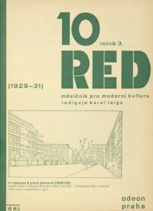 ReD. Ročník III/10, (1929-1931); Le Corbusier & Pierre Jeanneret (1928-29): Projekt čtvrti s vilovými obytnými domu v Ženevě = Immeubles-villas à Genève = Villen-Wohnhäuserblock in Genf