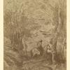 Le grand cavalier sous bois (reproduction réduite)