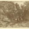 Le cavalier en forêt et le piéton (2nd state)