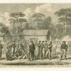 The Civil War in America : Confederate prisioners in Camp Georgia, Roanoke Island.