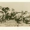 Russian artillery in the field.