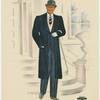 Tuxedo and topcoat evening ensemble]
