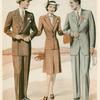 Pinstripe and herringbone suits]