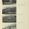 Letohrádek Belvedere z Chotkových sadů; Empirová budova na Opyši; Svah Opyše s kuželníkem; Matheiho jízdárna (foto Sudek)