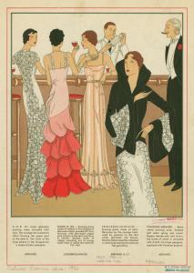 [Women and man in evening atti... Digital ID: 1600664. New York Public Library