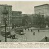 Panorama of Union Square and vistas of Fourteenth Street and Fourth Avenue.