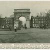 The Washington Memorial Arch and North Washington Square.