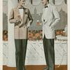 Two men in formal dress conversing on terrace.]