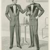 Men in dress suits conversing.]