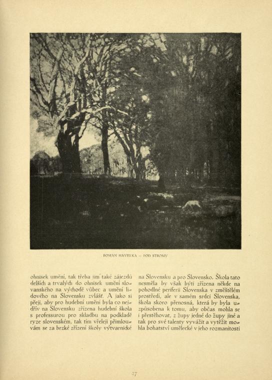 Roman Havelka: Pod stromy.