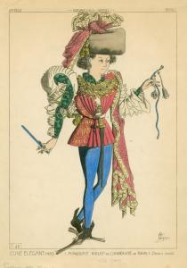 Jeune elégant, 1480.