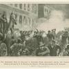 The anarchist riot in Chicago : A dynamite bomb exploding among the police