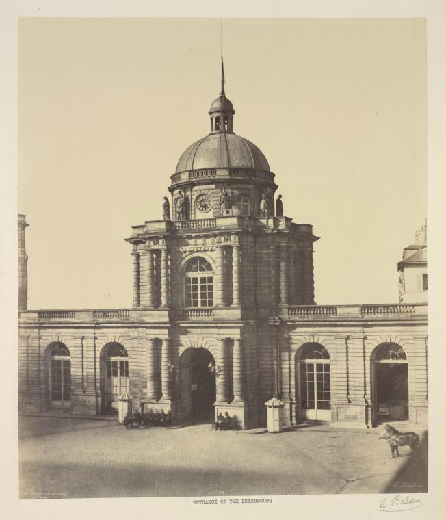 Fascinating Historical Picture of Palais du Luxembourg in 1850