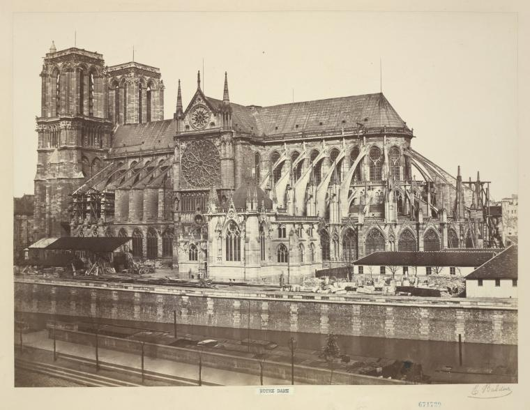 Fascinating Historical Picture of Notre-Dame de Paris in 1852