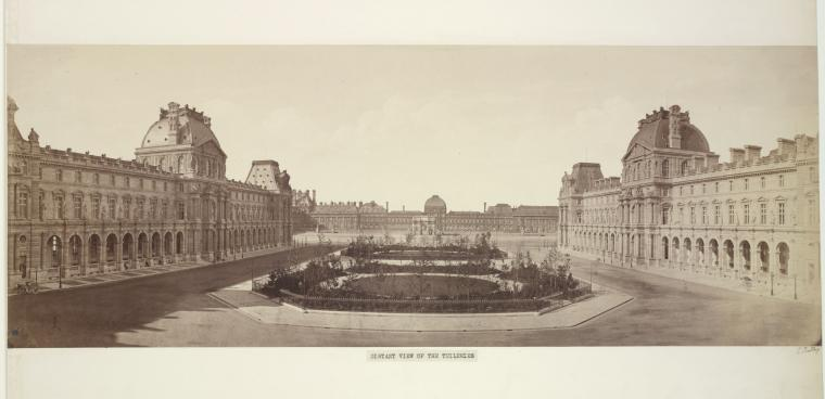Fascinating Historical Picture of Tuileries Palace in 1857