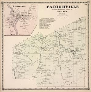 Parishville [Village]; Parishville including the original Township of Cookham, and Part of Catharineville. [Township]; Parishville Business Directory.
