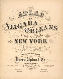 Atlas of Niagara and Orleans counties, New York.