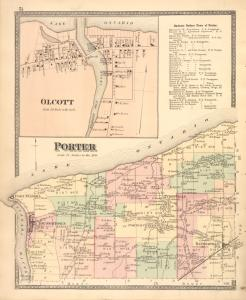 Olcott [Village]; Business Notices Town of Porter. ; Porter [Township]