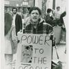 Sylvia Rivera of STAR (Street Transvestites Action Revolutionaries) at Bellevue Hospital demonstration, Fall 1970