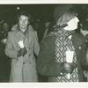 Jim Owles (right) at candlelight march to City Hall (New York City), 1970 Dec 24