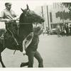 Arnie Kantrowitz chased by mounted policeman