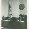 Stephen Solarz and Tony Olivieri at gay rights hearings, New York City, 1971 Jan