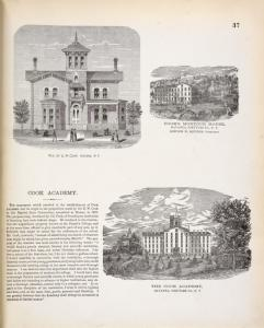 Res. of E. W. Cook, Havana, N.Y. ; Cook's Montour House, Havana, Schuyler Co., N.Y. Gordon N. Squares, Proprietor. ; Cook Academy. ; The Cook Academy, Havana, Schuyler Co., N.Y.