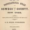 New Topographical Atlas of Oswego County, New York
