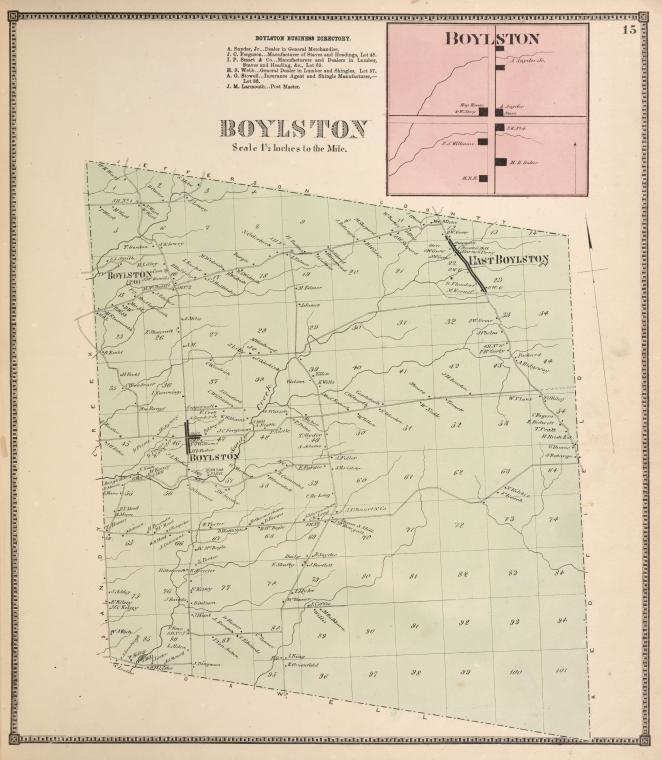 Boylston Business Directory. ; Boylston [Village]; Boylston [Township]