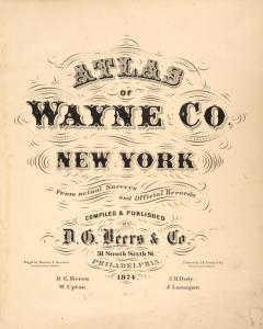 Atlas of Wayne County, New York