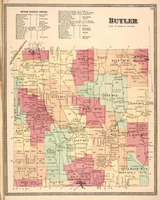 Butler Business Notices. ; Butler [Township]