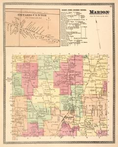 Ontario Center [Village]; Marion (Town) Business Notices. ; Marion [Township]
