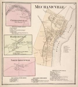 Conklingville [Village]; Conklingville Business Directory. ; Barkersville [Village] Barkersville Business Directory. ; North Greenfield [Village]; North Greenfield Business Directory. ; Mechanicville [Village]; Grooms Corners Business Directory. ; Mechanicville Business Directory.