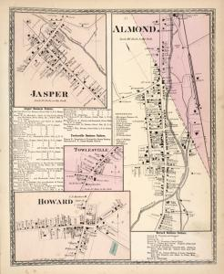 Jasper [Village]; Jasper Business Notices. ; Towlesville Business Notices. ; Towlesville [Village]; Howard [Village]; Almond [Village]; Howard Business Notices.