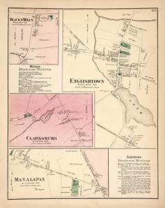 Blacks Mills [Village]; Millstone Business Notices. ; Clarksburg [Village]; Manalapan [Village]; Englishtown [Village]; Englishtown Business Notices.