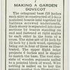 Making a garden dovecot.