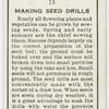 Making seed drills.