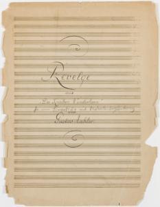 """Revelge : aus """"Des Knaben Wunderhorn"""" / von Gustav Mahler."""